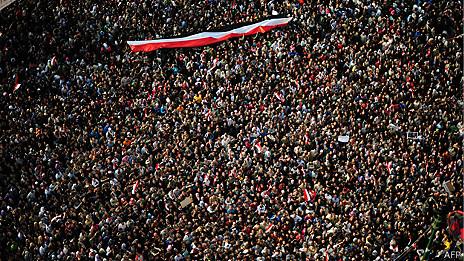 Multitud en Egipto