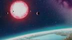 Рисунок предполагаемого пейзажа на планете Кеплер-186F