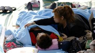 Famliares de la víctimas del ferry