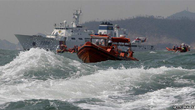 Operativos de rescate del ferry