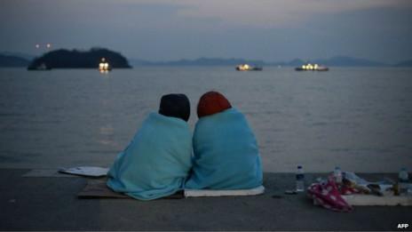 Naufrágio na Coreia do Sul   Crédito: AFP