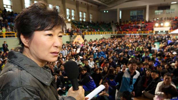 Park Geun-hye, presidente da Coreia do Sul   Crédiot: AFP