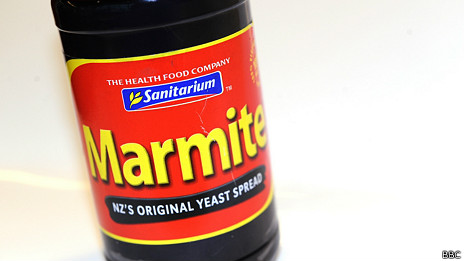 Una botella de Marmite