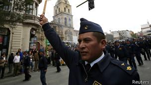 Oficiales bolivianos