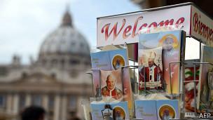 Puesto de souvenirs en el Vaticano