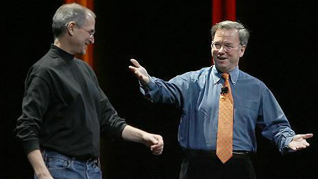 Schmidt y Jobs