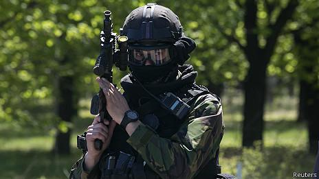 soldado ucraniano en Kramatorsk