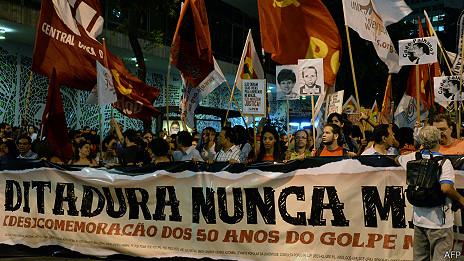 Manifestación contra el régimen militar en su 50º aniversario