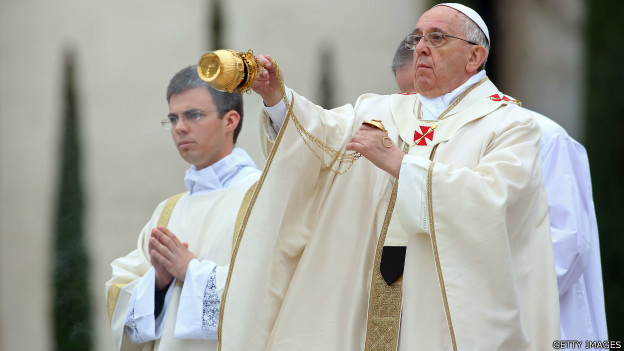 Papa Francisco no domingo. Foto: Getty Images
