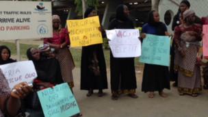 Matan da za su yi gangami a Abuja.
