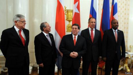 Lavrov con cancilleres de la CELAC