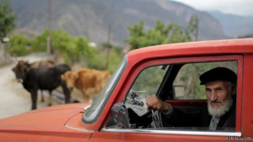 Житель деревни Гимры, Дагестан