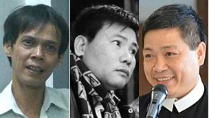 Các ông Phạm Chí Dũng, Trương Duy Nhất, LM Lê Ngọc Thanh