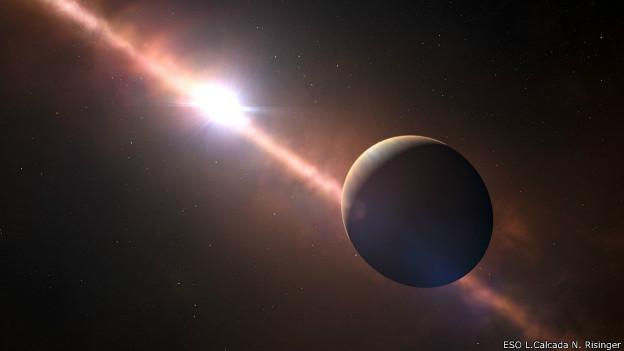 Representación del planeta Beta Pictoris b