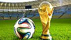 Brazuca, balón oficial del Mundial de Brasil, junto al trofeo Foto gentileza de Adidas