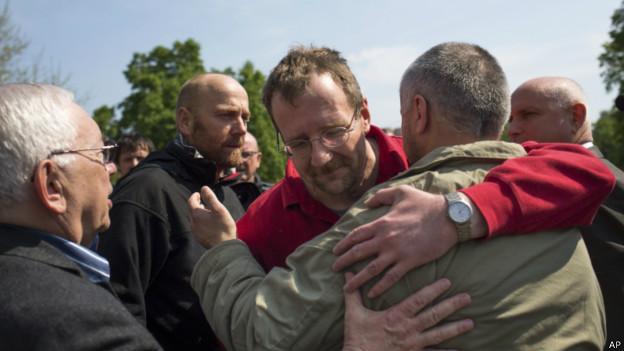 observadores são libertados na Ucrânia | AP