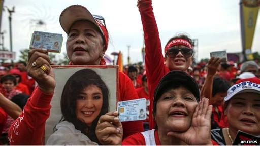 Người ủng hộ bà Yingluck