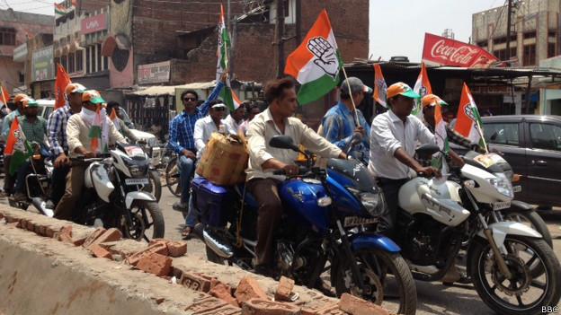 अमेठी में कांग्रेस का चुनाव प्रचार