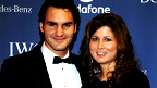 Roger Federer con su esposa, Mirka