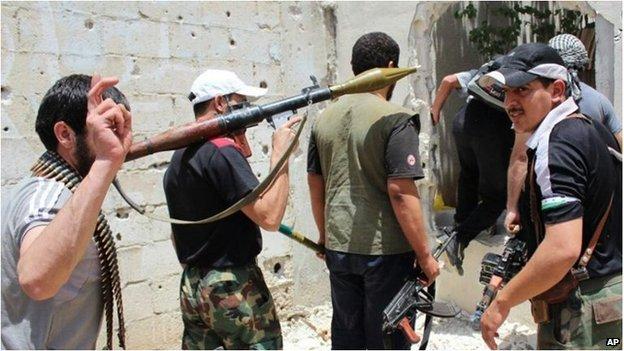 在敘利亞的穆斯林戰士