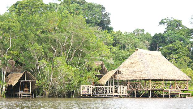 Cabañas para ecoturismo en la Amazonía ecuatoriana