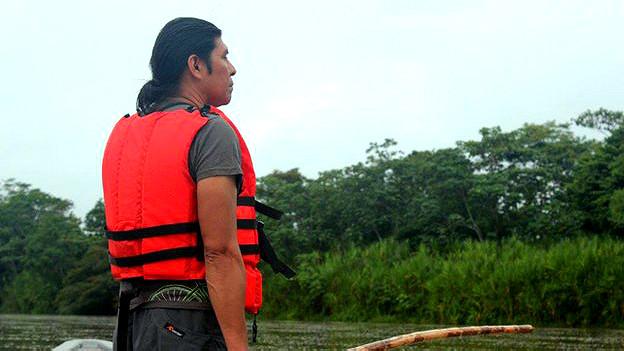 Patricio Jipa, poblador kichwa de la comunidad de Sani Isla