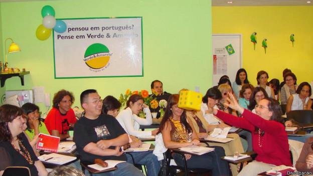Aula de português na Argentina (Foto: Divulgação)