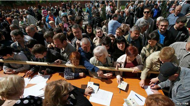 Região de Donetsk. Foto: Reuters
