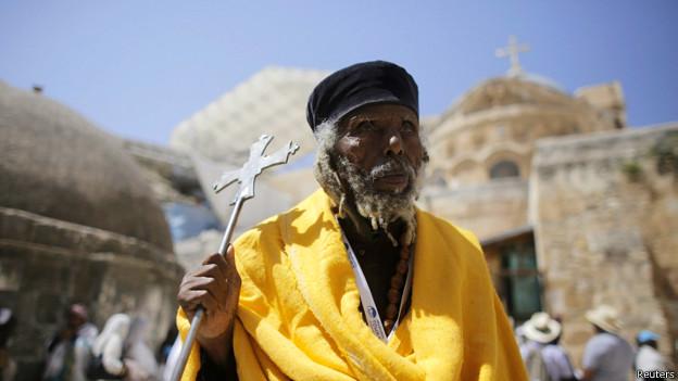 Прихожанин Эфиопской православной церкви в Иерусалиме