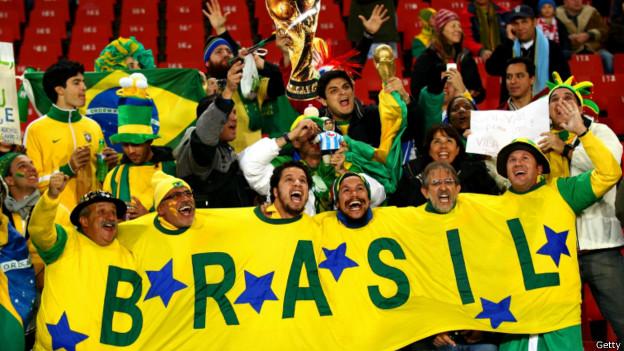 Torcida brasileira na África do Sul (Getty)