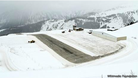 Aeropuerto Courchevel, Francia