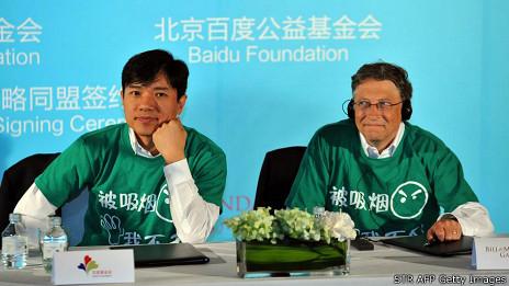 Robin Li, de Baidu, con Bill Gates