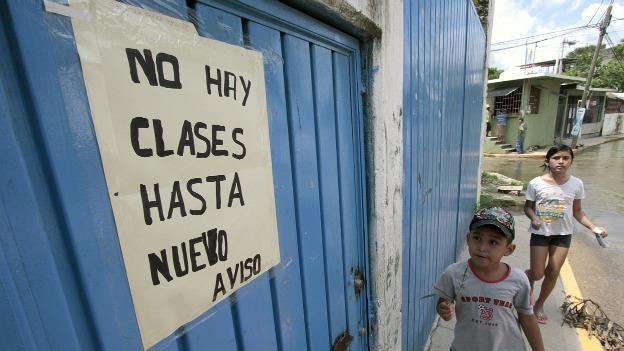 Escuela cerrada en Acapulco, Guerrero. Foto: AFP/Getty