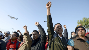 Protesta de maestros en Ciudad de México. Foto: AFP/Getty