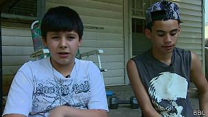 Fernando y su hermano mayor Brandon Jayubo Rodríguez