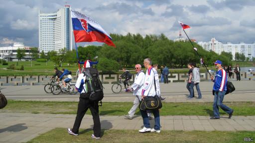 Болельщики в Минске