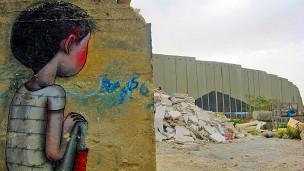 Grafite: Cores cobrem a barreira que separa palestinos e israelenses