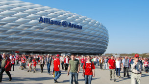 Estádio de Munique. Foto: Albert Steinberger