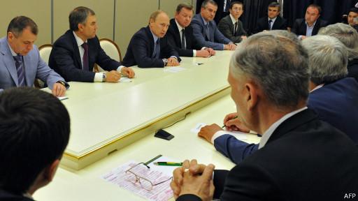 Путин на встрече с крымскими татарами