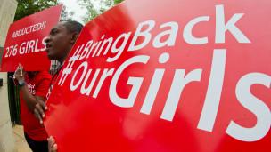 Campanha pede o retorno de meninas nigerianas (AFP)