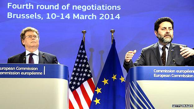 Negociadores de EE.UU. y Europa