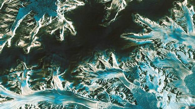 Вид Антарктики со спутника Криосат