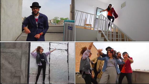 """Jóvenes iraníes en tributo a la canción """"Happy"""""""