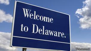 Cartel de la ciudad de Delaware