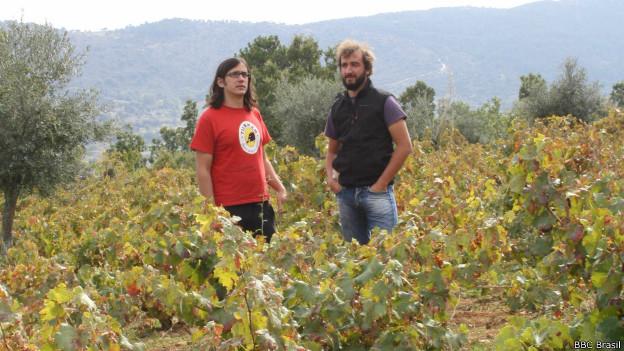 Jiménez-Landi e García (Foto: Fernando Kallás/BBC Brasil)