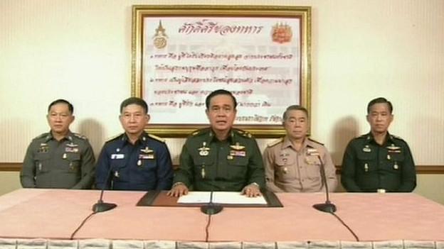 Pronunciamento na televisão tailandesa