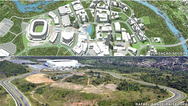 Mapa del Proyecto Cidade da Copa