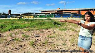 Sitio donde debía construirse un terminal de transporte para la Copa
