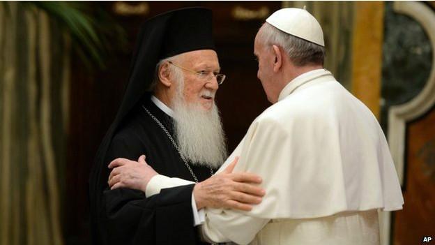 Papa Francisco y Bartolomeo