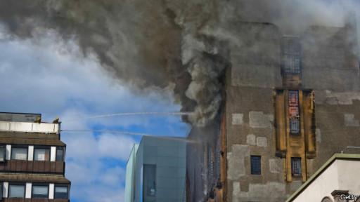 Пожар в Школе искусств в Глазго